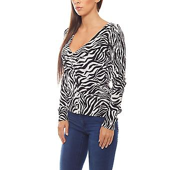 Bruno banani Cardigan ladies Leopard print black/white