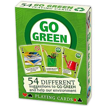 Go Green (Green Eco Tips) Set Of 52 Playing Cards (+ Jokers)