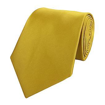 Schlips Krawatte Krawatten Binder 8cm gold gelb uni Fabio Farini