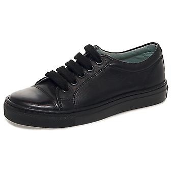 Petasil Boys Peel School Shoes Black F Fitting