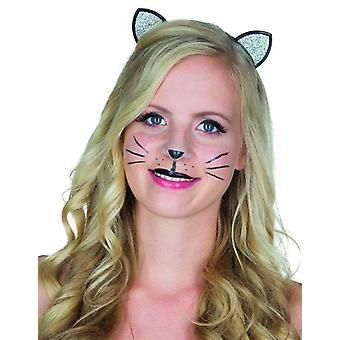 Venda del brillo de gato con gato de carnaval accesorios de orejas