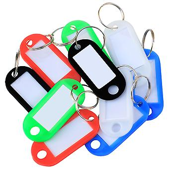 TRIXES 50 Plastic Assorted Colour Coded Key Tags