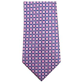 Knightsbridge Neckwear géométrique Tie - rose/bleu
