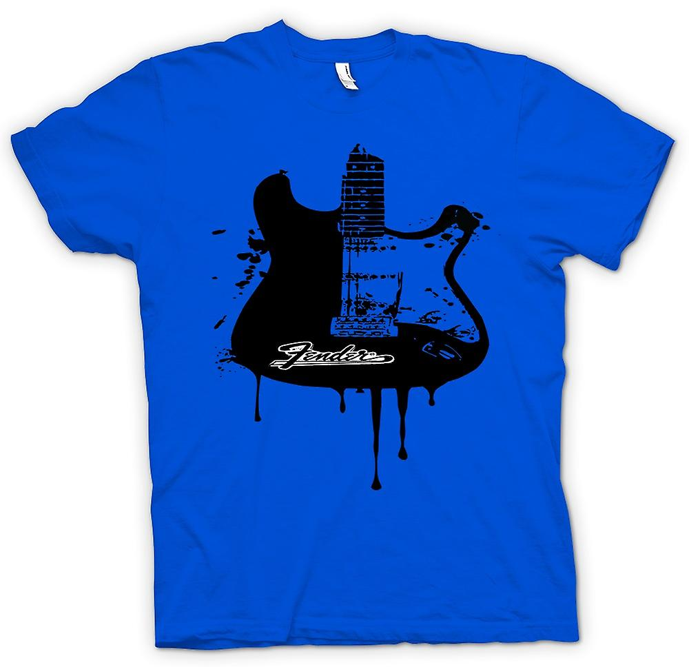 Mens T-shirt - Fender Strat - Grunge Guitar