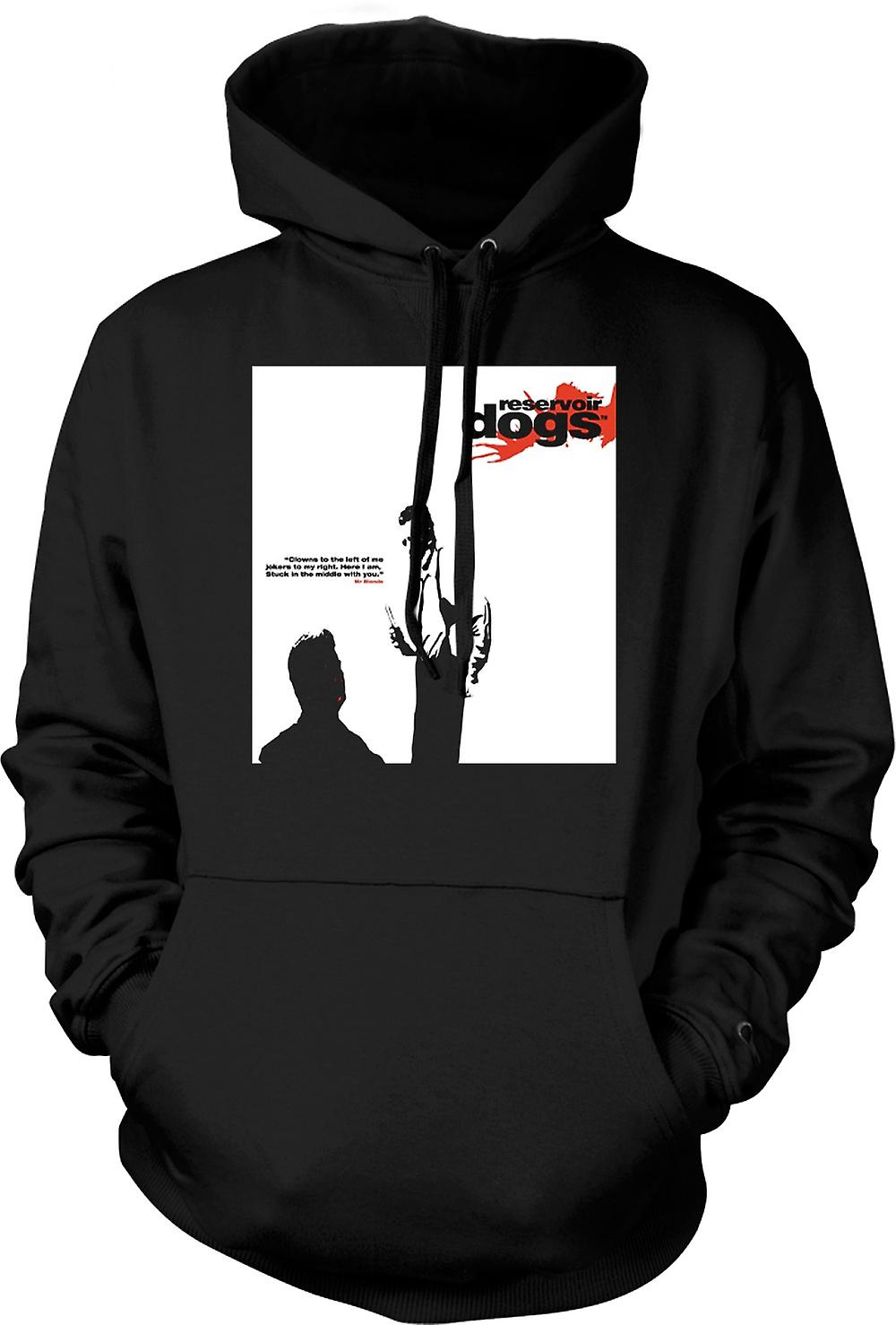 Mens Hoodie - Reservoir Dogs - Clowns To The Left