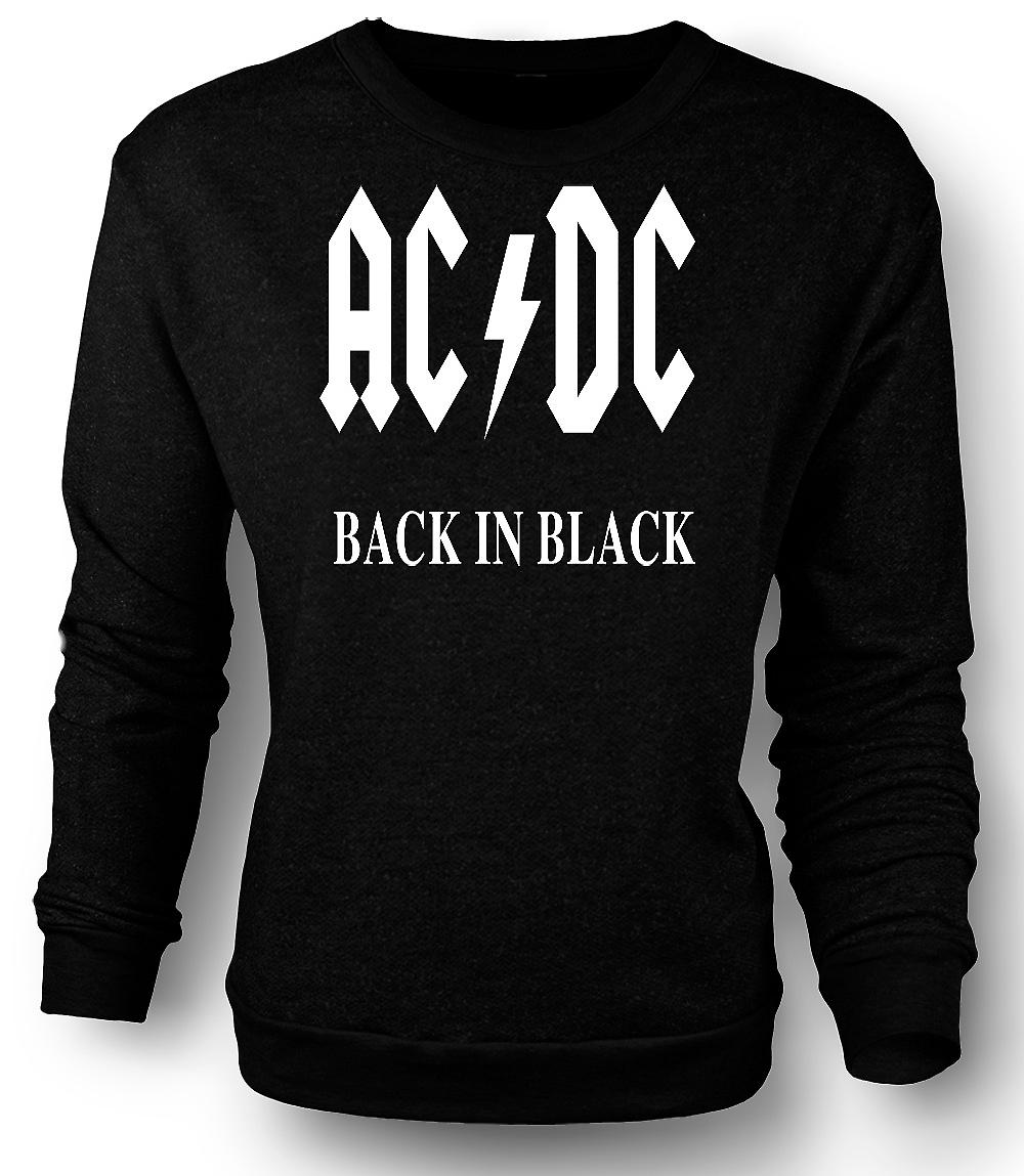 Mens Sweatshirt AC/DC Back In Black