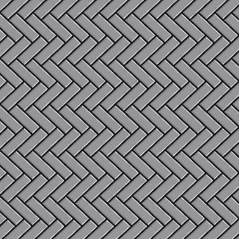 Metal mosaic Stainless Steel ALLOY Herringbone-S-S-MA