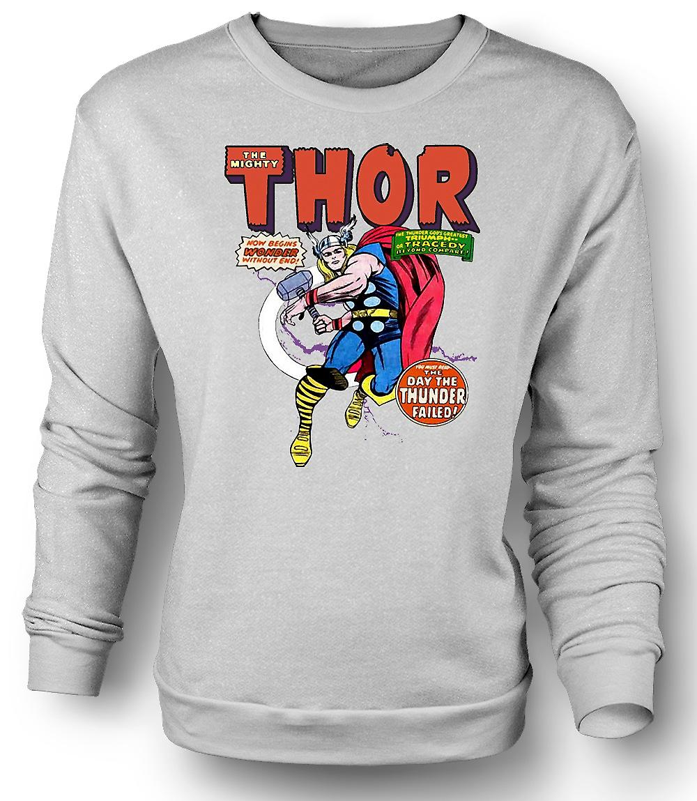 Mens Sweatshirt Captain America - Comic Hero