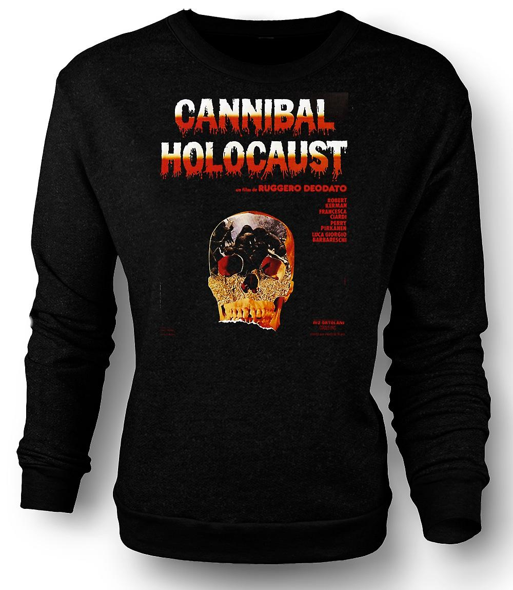 Mens Sweatshirt Cannibal Holocaust - skräck - affisch