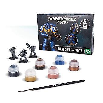 Atelier de jeux Warhammer 40 000 intercesseurs peignent ensemble