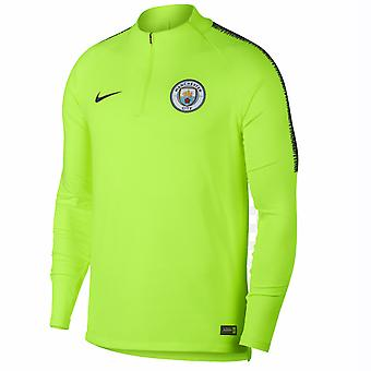2018-2019 man City Nike Training Top Drill (Volt)