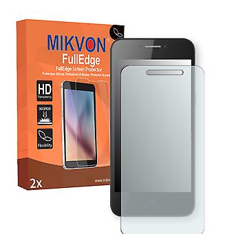 ZTE Open L screen protector - Mikvon FullEdge (screen protector with full protection and custom fit for the curved display)