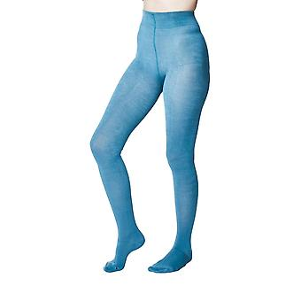 Elgin women's super-soft warm bamboo tights, river blue |  By Thought