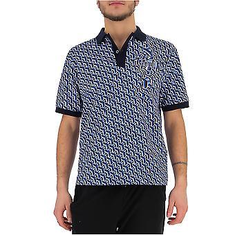 Prada White/blue Cotton Polo Shirt