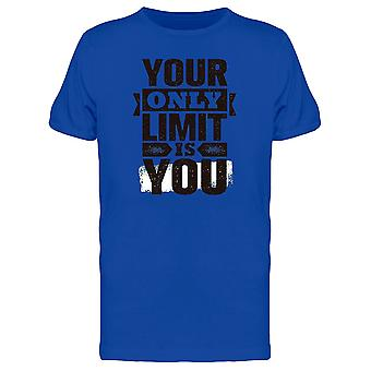 Gym Motivation Your Only Limit Tee Men's -Image by Shutterstock