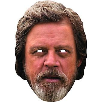 Luke Skywalker card mask STAR WARS cardboard mask Carnival Jedi