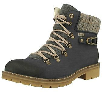 Ladies Rieker Fur Lined Ankle Boots Y9131