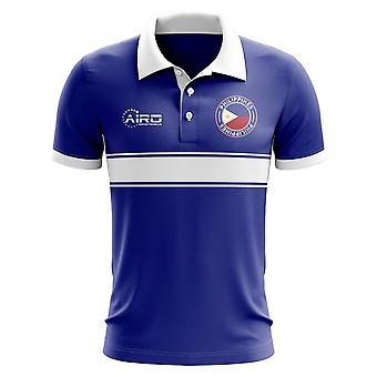 Philippines Concept Stripe Polo Shirt (Blue)