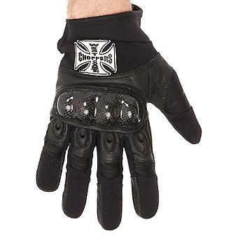 West Coast Choppers Black 666 Riding Motorcycle Gloves