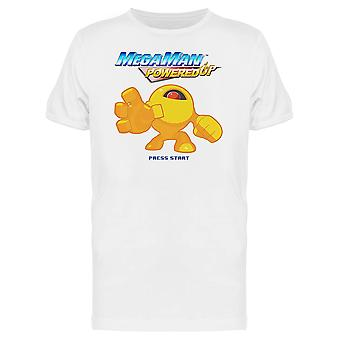 Mega Man Powered Up Yellow Devil Classic Capcom Men's T-shirt