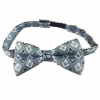 Freimaurer 100% Silk Woven Craft Bow Tie mit Square Compass Green