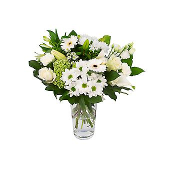 Botanicly - Bouquets | Bunch of Flowers Kim large, white | Height: 45 cm