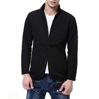 Allthemen mäns kostym jacka bomulls blandning casual Spliced kostym jacka