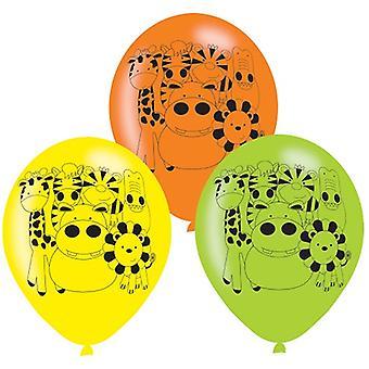 Jungle Animals Party Balloons 6 Pieces Safari Adventure Children's Birthday