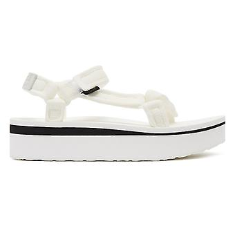 Teva Flatform Universal Mesh Print Womens White Sandals