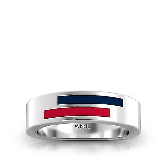 Colombus chaquetas azules anillo de esmalte asimétrico en azul oscuro y rojo