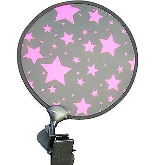 Min buggy Buddy stjerner solskjerm-rosa