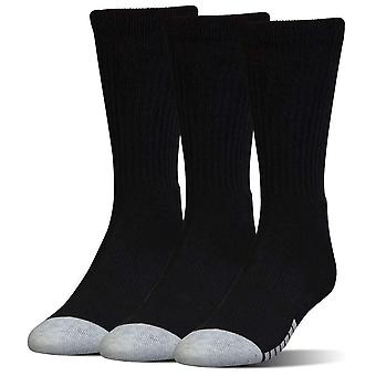Under Armour HeatGear Crew Adult Sport Socks 3 Pack Black