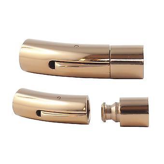 Edelstahl Hebeldruckverschluss Schmuck Lederband-Armband-Verschluss 6 mm Rose