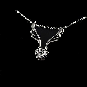 Two ways to wear! 7 Pieces Cubic Zirconia Angel wing Pendant