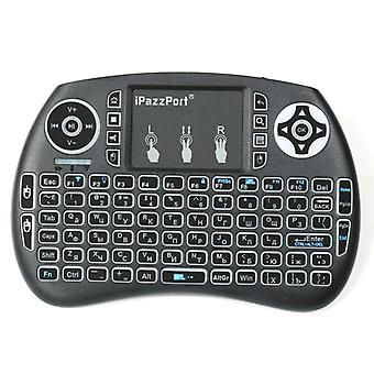 Ipazzport kp21sdl 2.4g wireless three color backlit russian version mini keyboard touchpad air mouse