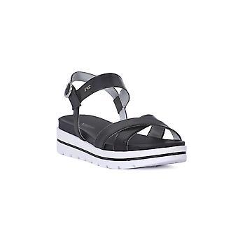 Nero giardini sandales leon noir