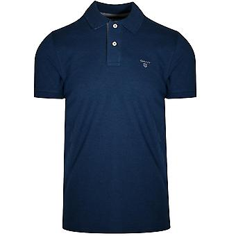 Gant GANT Dark Indigo Melange Polo Shirt