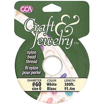 Craft & Jewelry Nylon Beading Cord #60 300 Feet Pkg White 24691 01