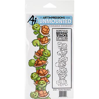 Art Impressions Stackers Cling Rubber Stamp Set 7