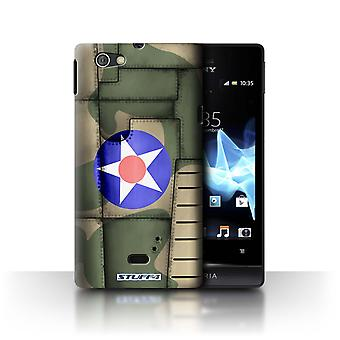 STUFF4 Sag/Cover til Sony Xperia Miro/ST23I/Amerika/grøn/fly Fighter Wing