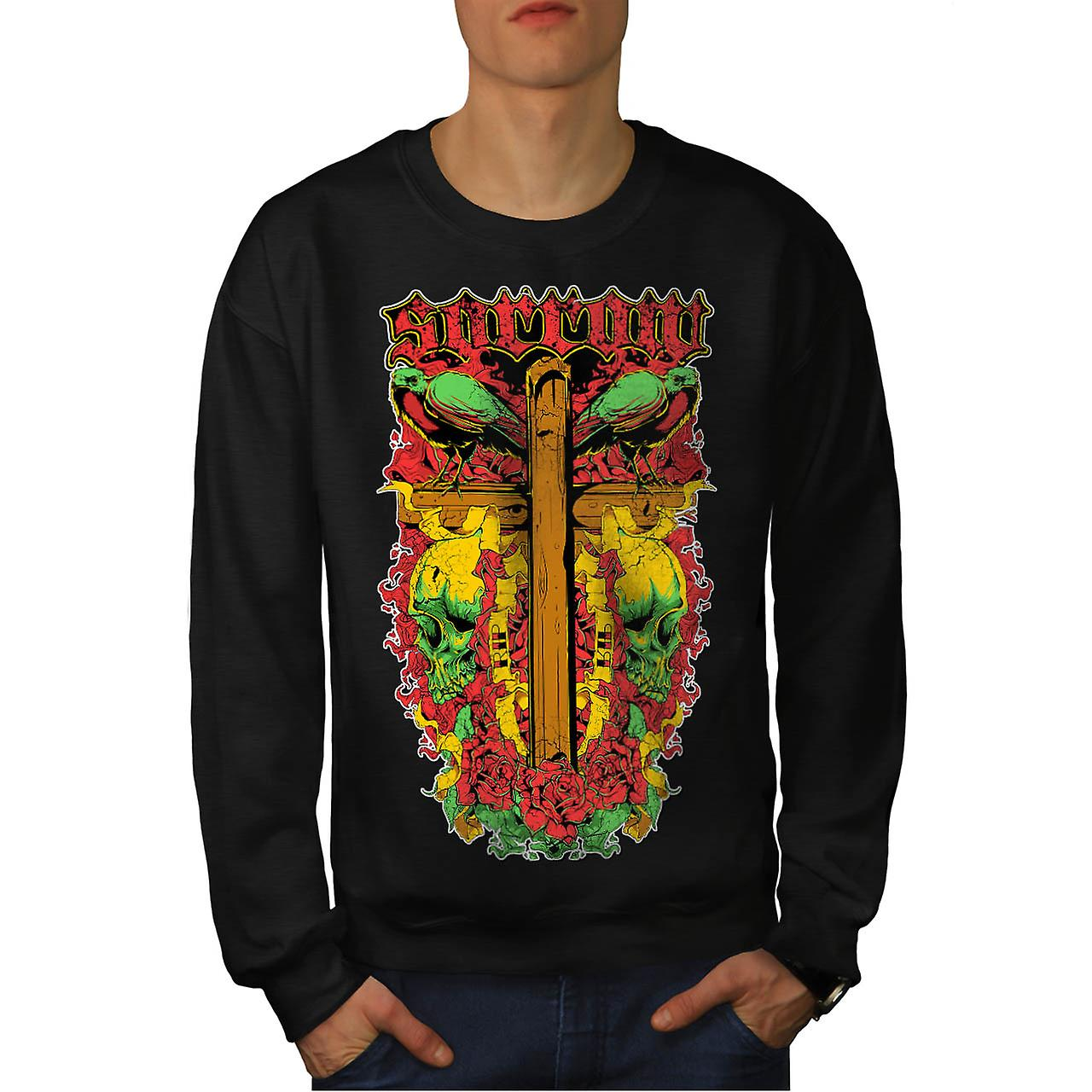 Sorrow Vintage Fantasy Men Black Sweatshirt | Wellcoda