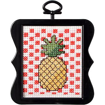 Beginner Minis Pineapple Counted Cross Stitch Kit-3