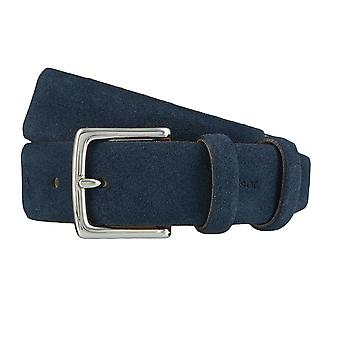 Windsor. Belts men's belts leather belt Suede Blue 4146