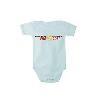 Baby body international for Germany World Cup 2034 in different languages