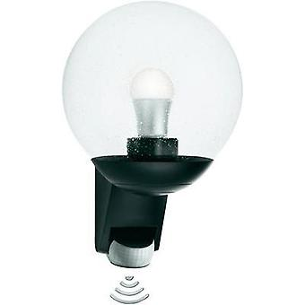 Outdoor wall light (+ motion detector) Energy-saving bulb, LED E27 60 W Steinel 05535 Black
