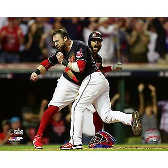 Jason Kipnis scores on a wild pitch during Game 7 of the 2016 World Series Photo Print (8 x 10)