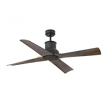 Faro energy-saving outdoor ceiling fan Winche black IP44