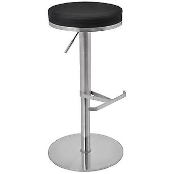 Barrir Satin Brushed Steel Kitchen Stool
