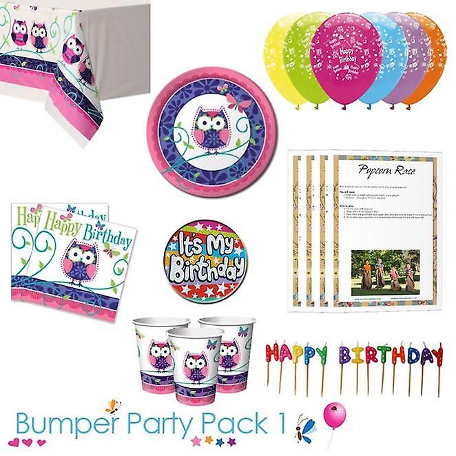 Owl Party Tableware Bumper Pack 1