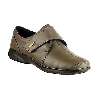 Cotswold Cranham Womens Velcro Shoes Textile Leather PU Sole Ladies Footwear